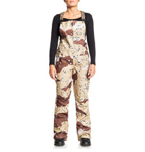 DC Shoes Women's Collective Bib Shell Ski Snowboard Pant Chocolate Chip Camo Front