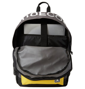 DC Shoes Backsider Backpack Dark Shadow Opened Bag View