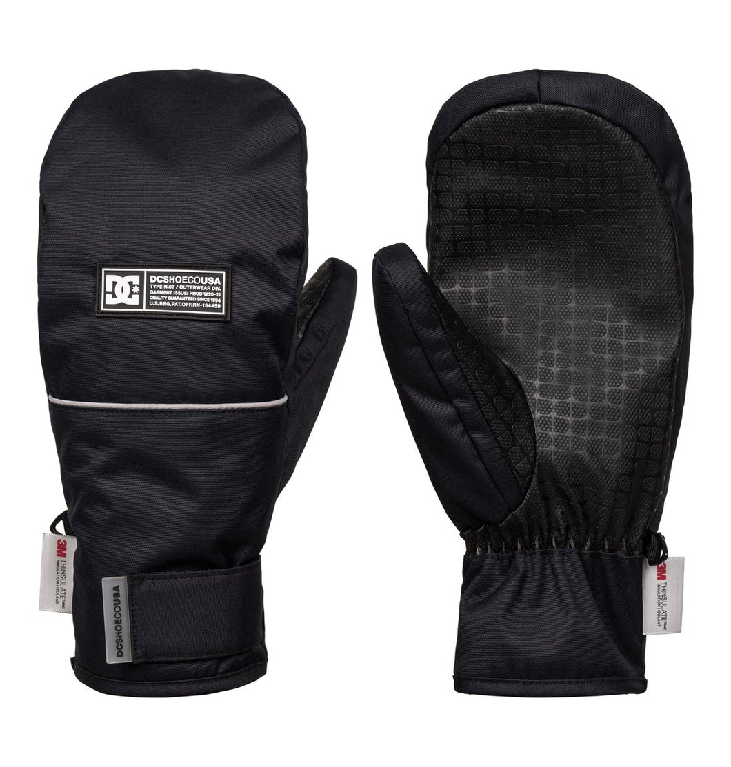 Men's Franchise Ski and Snowboard Mittens black Front and back view