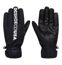 DC Shoes Men's Salute Glove Front and back view black