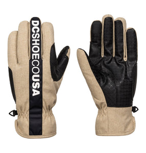 DC Shoes Men's Salute Glove Front and back view twill