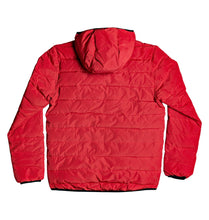 DC Shoes Turner Puffer Hooded Insulater Jacket Racing Red Back View