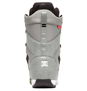 DC Shoes Men's Mutiny Lace Up Snowboard Grey Boot Back View