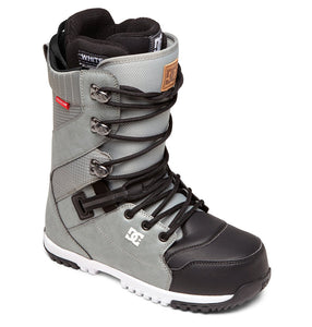 DC Shoes Men's Mutiny Lace Up Snowboard Grey Boot Profile View