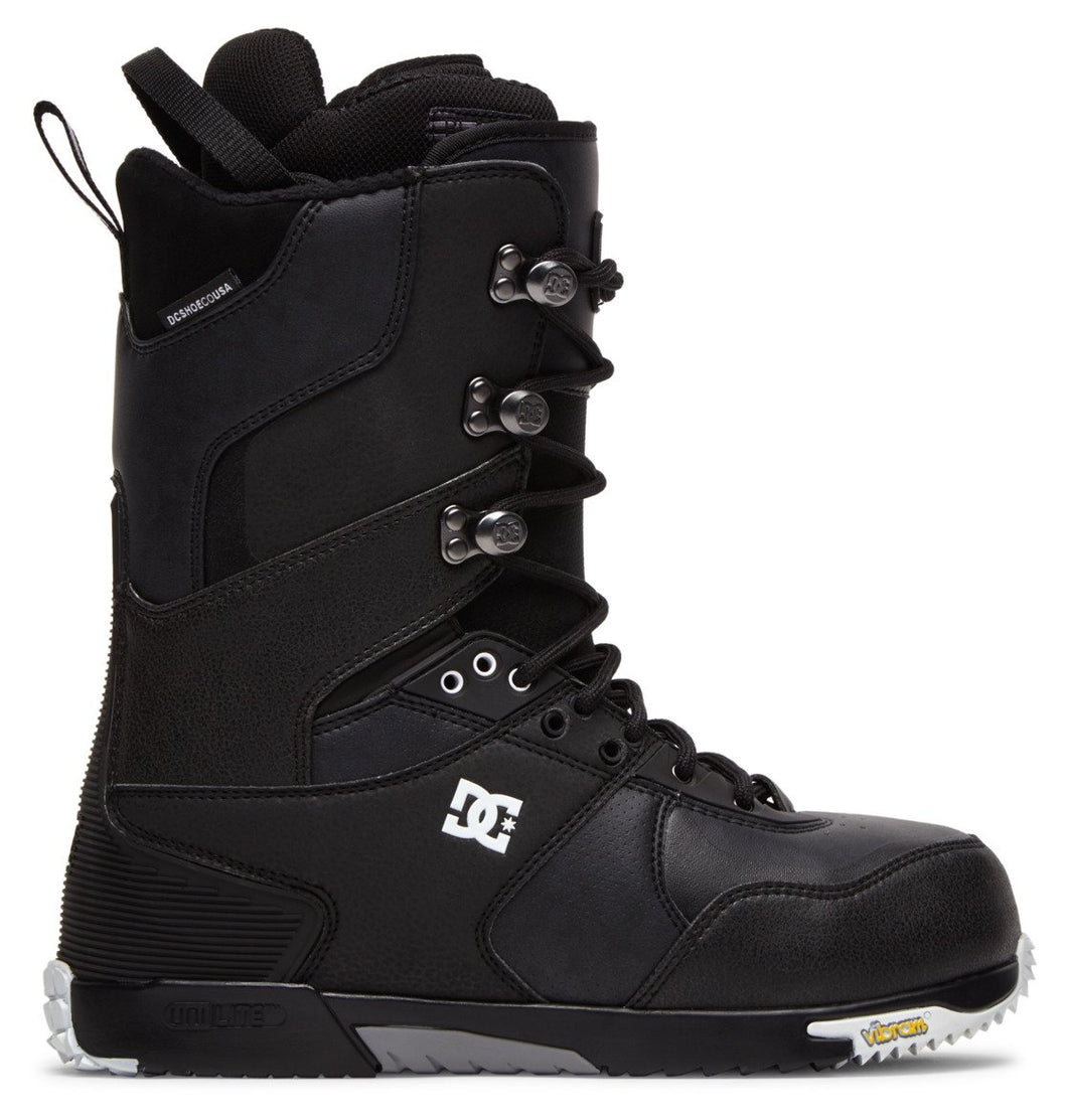 DC Shoes Men's The Laced Lace Snowboard Boot Black Outside View