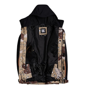 DC Shoes Men's DCSC Jacket Chocolate Chip Front Opened View