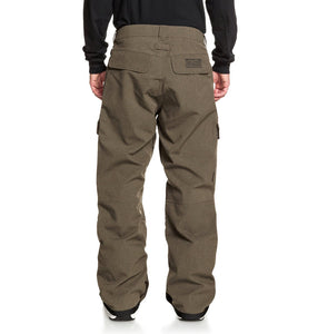 DC Shoes Men's Code Shell Snowboard Pants Brown Full Back View
