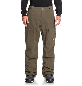 DC Shoes Men's Code Shell Snowboard Pants Brown Front Main View