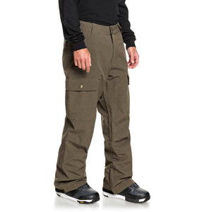 DC Shoes Men's Code Shell Snowboard Pants Brown Angled Side View