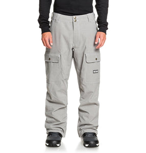DC Shoes Men's Code Shell Snowboard Pants Grey Front Main View