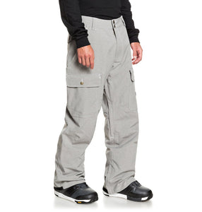 DC Shoes Men's Code Shell Snowboard Pants Grey Angled Side View