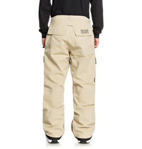 DC Shoes Men's Code Shell Snowboard Pants Tan Full Back View