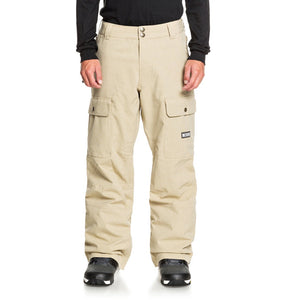 DC Shoes Men's Code Shell Snowboard Pants Tan Front Main View