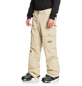 DC Shoes Men's Code Shell Snowboard Pants Tan Angled Side View