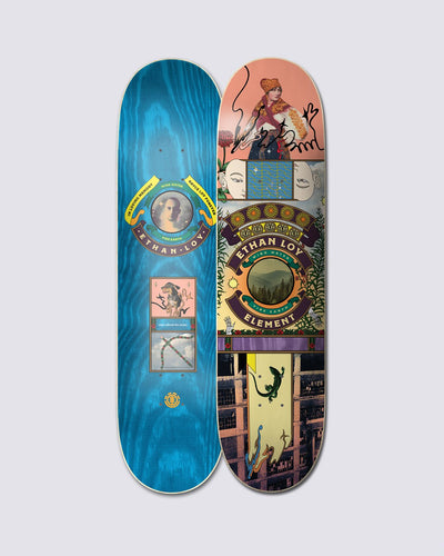 Element Ethan Loy Paradise 8.25 Skateboard Deck Front and Back View