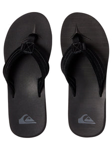 Carver Suede Leather Sandals - Solid Black
