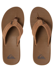 Carver Suede Leather Sandals Tan Solid