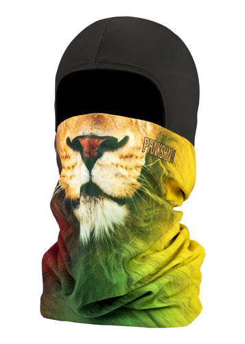 Function Wear Double dual layer ballerclava balaclava full facemask rasta lion green red yellow