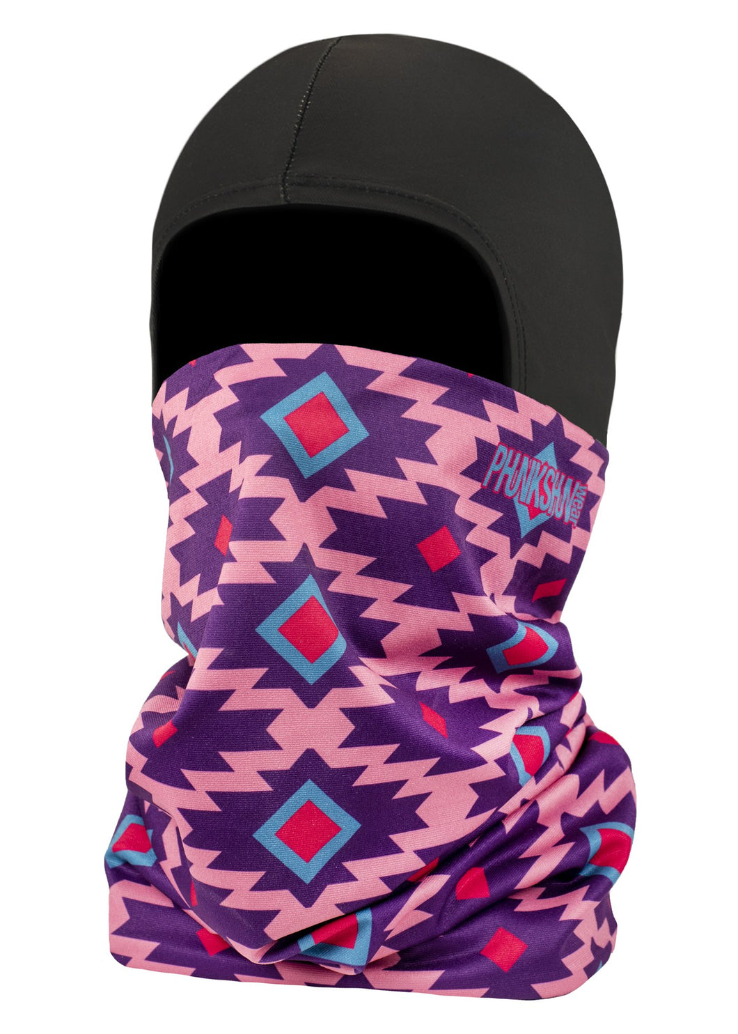 Function Double Layer Ballerclava Geodesic Balaclava Face Mask Indy Aztec Native American Purple Pink Blue Red