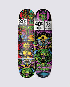 Element Cosmic Travel Jaako 8.3 Skateboard Deck Front and Back View