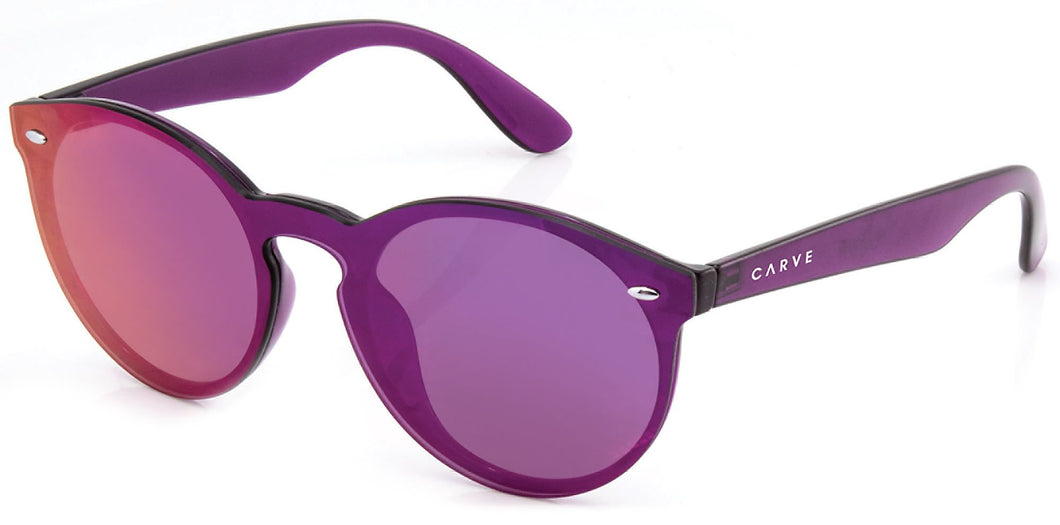 Carve Eyewear Cleo Crystal Purple Frame Purple Revo Lens