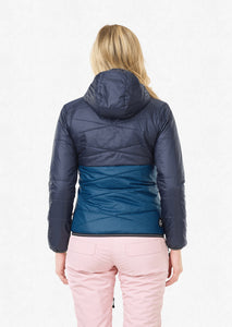 Picture Women's Chloe Reversible Synthetic Puffy Jacket Dark Blue Back Model