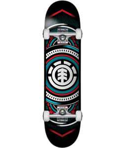 Element Hatched Blue/Red Skateboard Complete Graphic 7.3 7.7