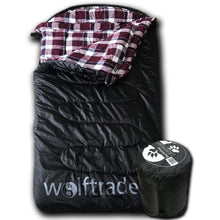 LoneWolf 0 Degree Oversized Premium Comfort Sleeping Bag Black/Purple