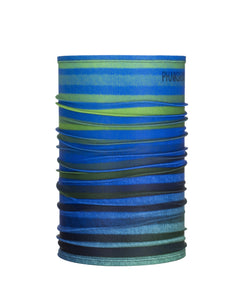 Function Wear Single Tube Stripes Single Layer Facemask Blue Green