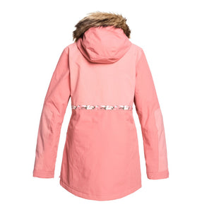 DC Shoes Womans Panoramic 15K Waterproof Ski Snowboard Jacket Dusty Rose Pink Back