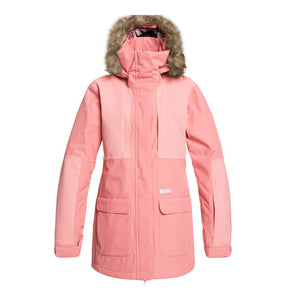DC Shoes Womans Panoramic 15K Waterproof Ski Snowboard Jacket Dusty Rose Pink Front