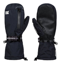 DC Shoes Men's Legion Ski and Snowboard Mitt Black Front and Back View