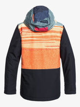 Boy's Travis Rice Ambition Snow Jacket Orange and Black Back View