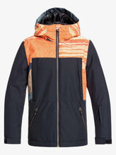 Boy's Travis Rice Ambition Snow Jacket Orange and Black Front View