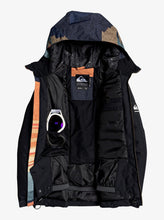 Boy's Travis Rice Ambition Snow Jacket Orange and Black Front Opened View