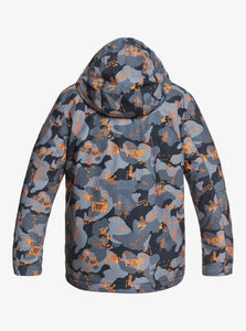 Quicksilver Boy's Mission Printed Snow Jacket Back View