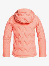 Roxy Girl's Breeze Snow Jacket Fusion Coral Back View