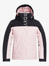 Roxy Girl's Galaxy Snow Jacket Pink and Black Front View