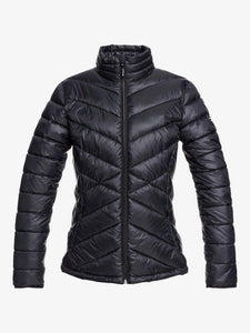 Roxy Women's Sunset Snow Jacket True Black Front view