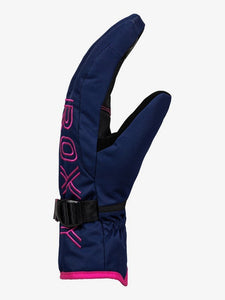 Roxy Women's Freshfield Ski and Snowboard Gloves Medieval Blue single side view