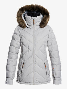 Roxy Women's Quinn Snow Jacket Heather Grey Front and main view