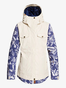 Roxy Ceder Women's Snow Jacket Bleached flowers main front view