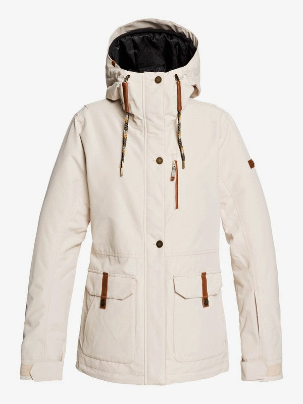 Roxy Andie Snow Jacket Oyster Grey Front