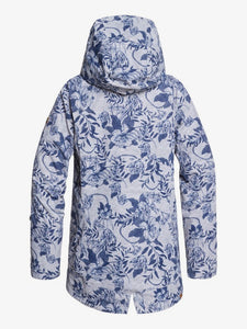 Roxy Women's Gore-Tex 2L Glade Printed Jacket Botanical Flowers back view
