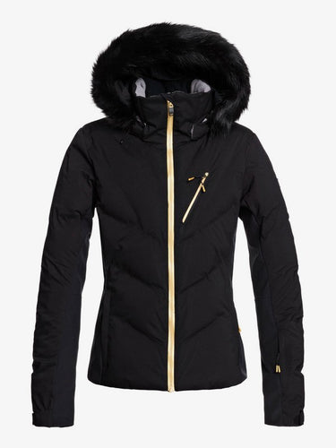 Roxy Women's Snowstorm Plus Snow Jacket True Black Front and main view