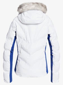 Roxy Women's Snowstorm Jacket Bright White Back