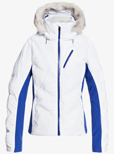 Roxy Women's Snowstorm Jacket Bright White Front Main