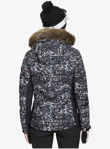 Roxy Women's Snowstorm Jacket Izi Model Back Close