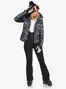 Roxy Women's Snowstorm Jacket Izi Model Open Front