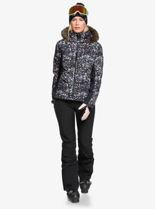 Roxy Women's Snowstorm Jacket Izi Model Front Walking Forward